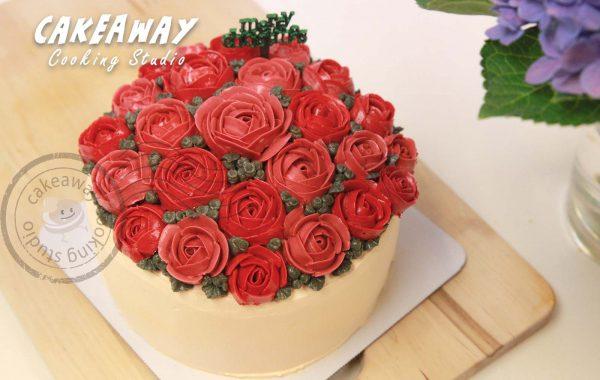 酒紅玫瑰唧花