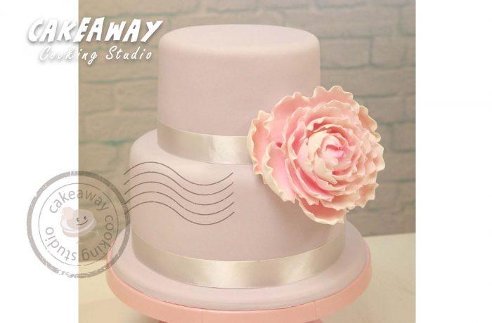 大牡丹結婚蛋糕(雙層)