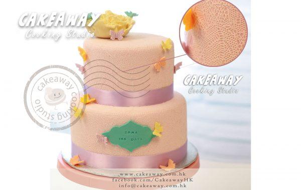 全lace結婚蛋糕(連牡丹)