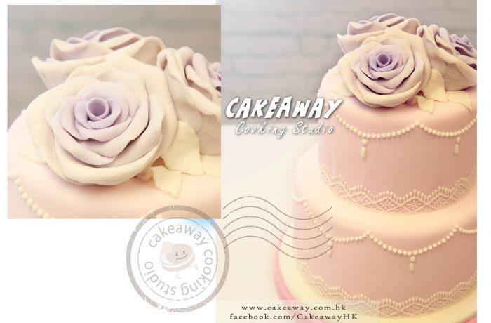 兩層結婚蛋糕 (大玫瑰)