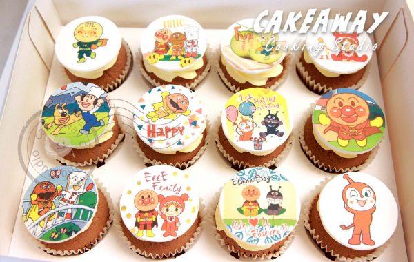 麵包超人食用打印Cupcake
