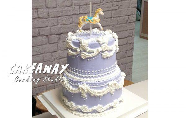 經典木馬唧花蛋糕