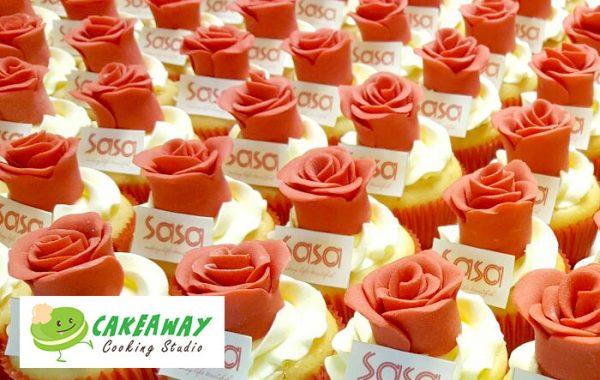 Sasa玫瑰花Cupcake