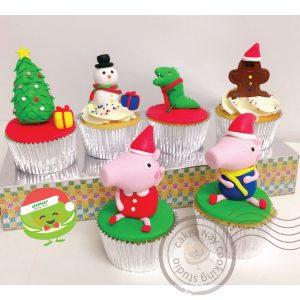 Xmas Peppa Cupcake-01