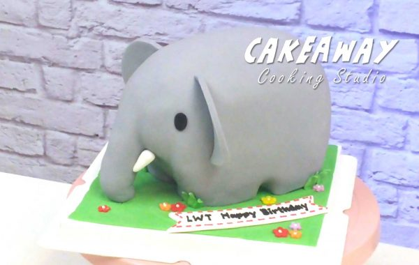 可愛立體小象