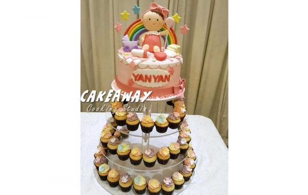 百日宴蛋糕 連 MiniCupcake