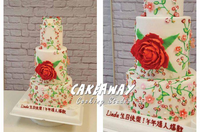 優雅中國風多層蛋糕