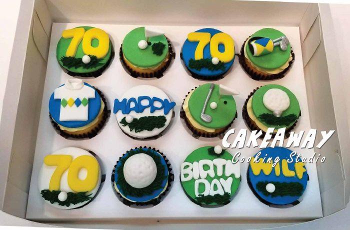 Golf (高爾夫球)主題Cupcake