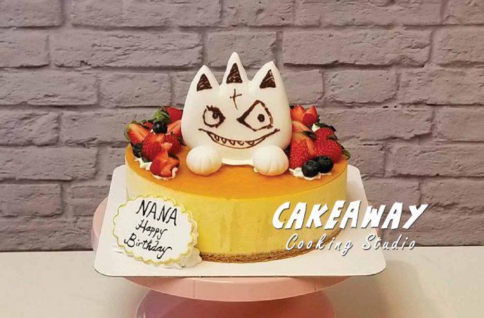 芒果慕士蛋糕(自來卡通圖片)