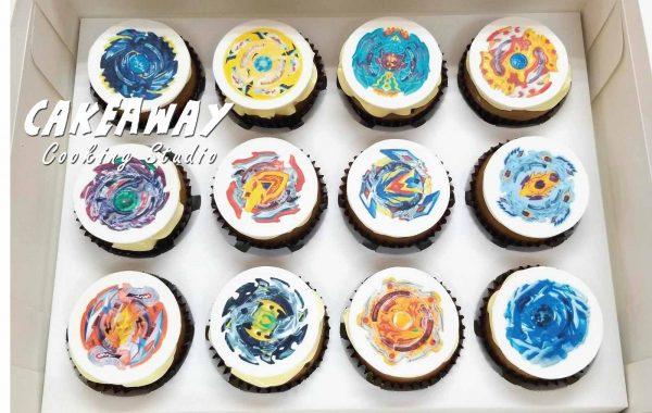 爆旋陀螺(食用打印Cupcake)
