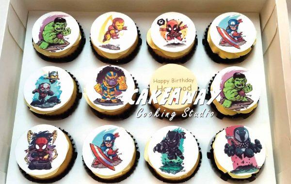 超級英雄(食用打印Cupcake)