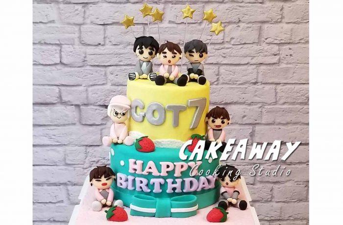 韓國歌唱組合 GOT7 蛋糕