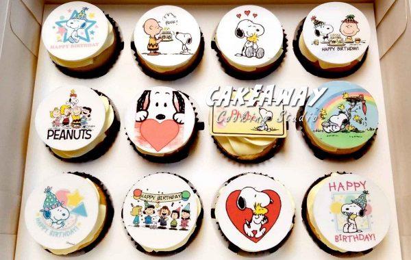 Snoopy (食用打印Cupcake)