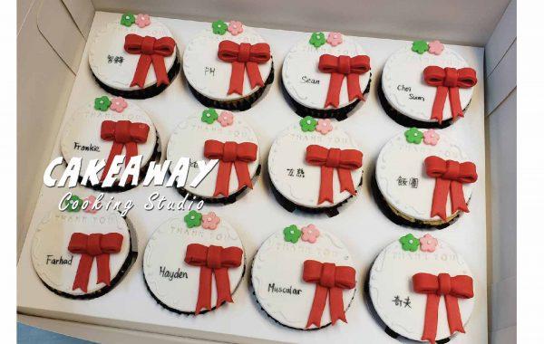 散水Cupcake (紅蝴蝶結款)