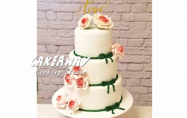 玫瑰花結婚蛋糕
