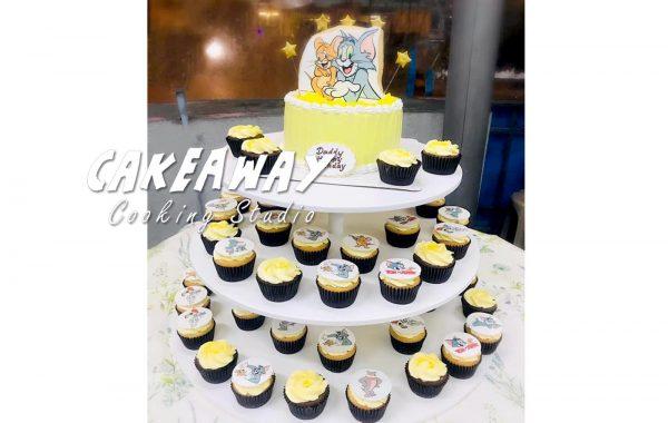 卡通蛋糕連Cupcake