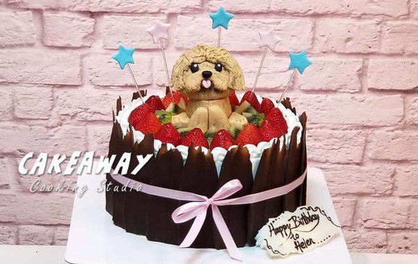 愛犬肖像蛋糕