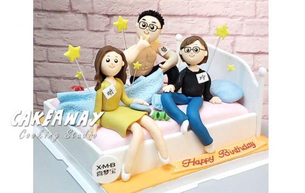 床上主題蛋糕