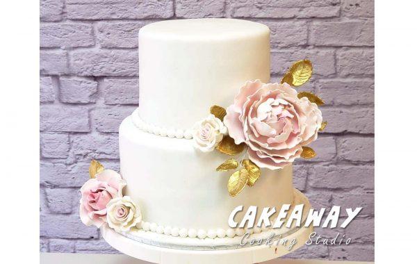 金綴牡丹結婚蛋糕(雙層)