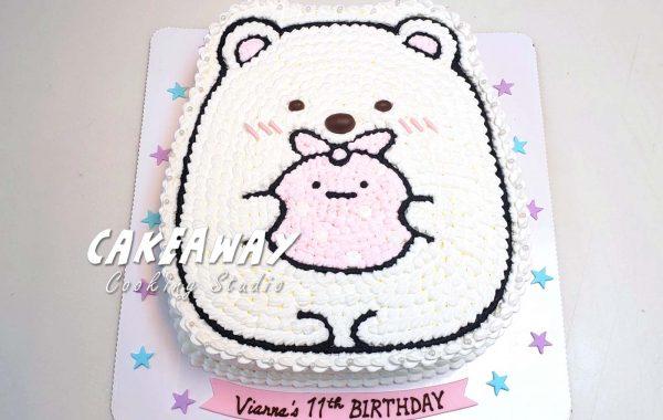 角落生物蛋糕-白熊&便當布
