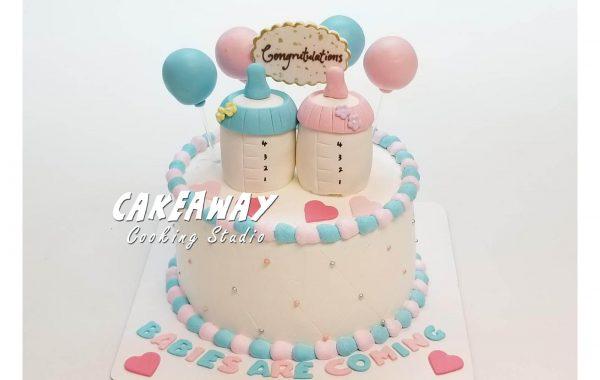 嬰兒性別揭曉蛋糕