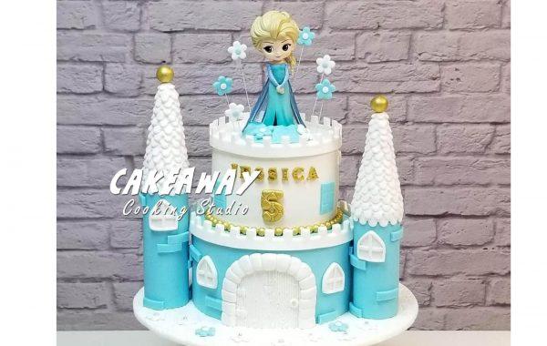 公主城堡蛋糕(Elsa)