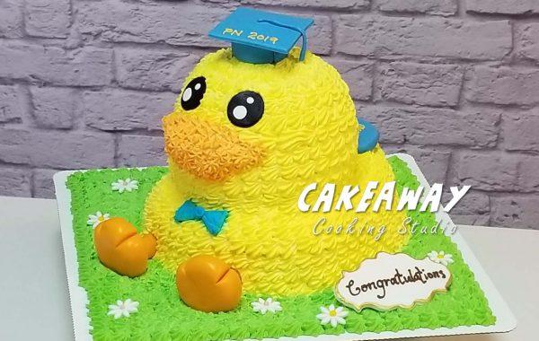 立體B Duck 蛋糕(畢業裝飾)