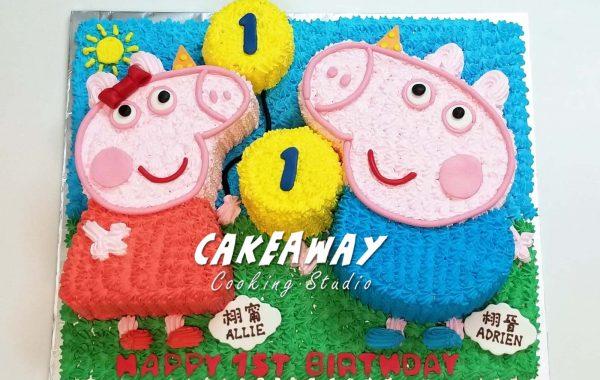 Peppa 與 George 大蛋糕
