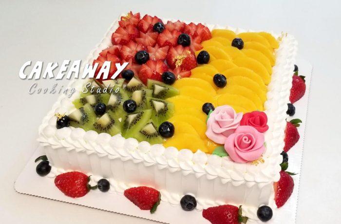 鮮雜果忌廉蛋糕