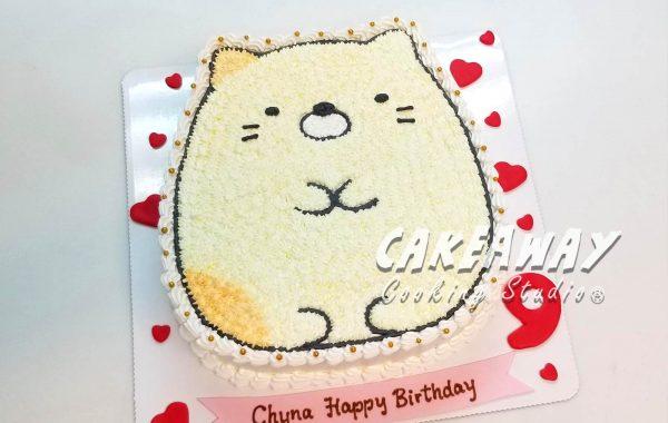 角落生物蛋糕-貓