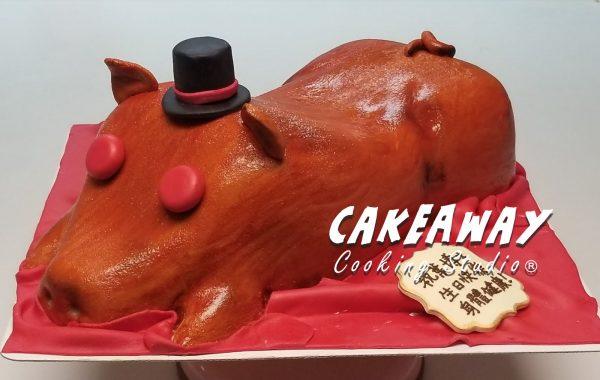 紳士乳豬蛋糕