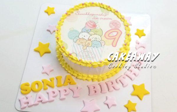 角落生物蛋糕(食用打印)