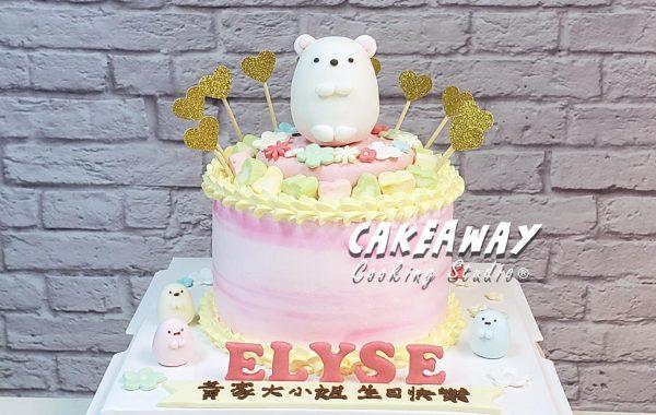 角落生物蛋糕-白熊