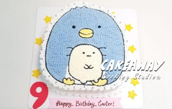 角落生物蛋糕-藍企鵝&粉圓