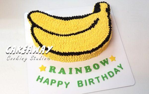香蕉造型蛋糕
