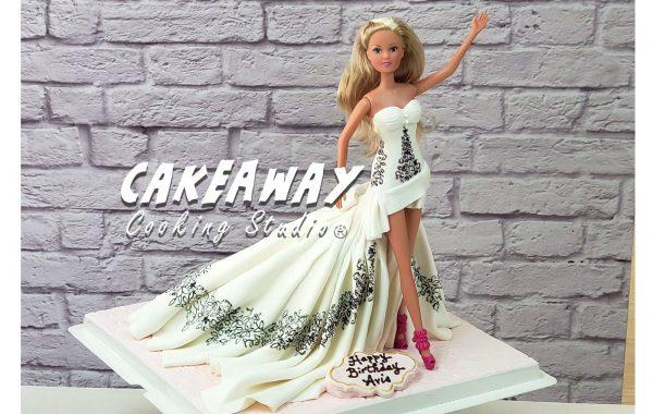Barbie公主蛋糕(露腳款)