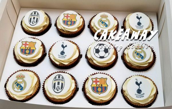 足球主題Cupcake
