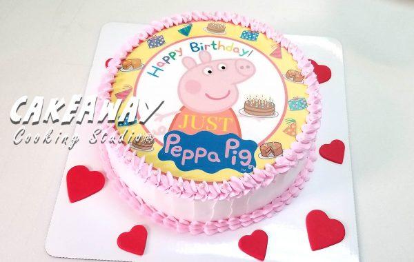 Peppa Pig 蛋糕(食用打印)
