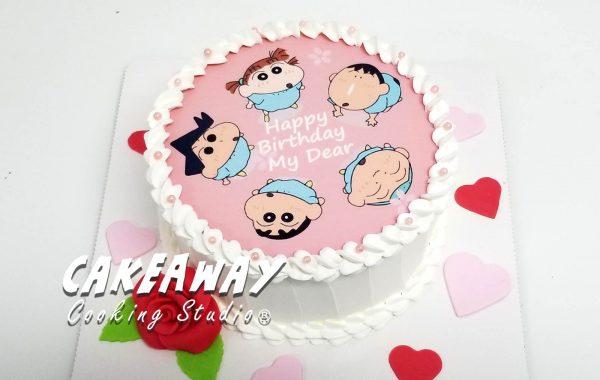 蠟筆小新蛋糕(食用打印)