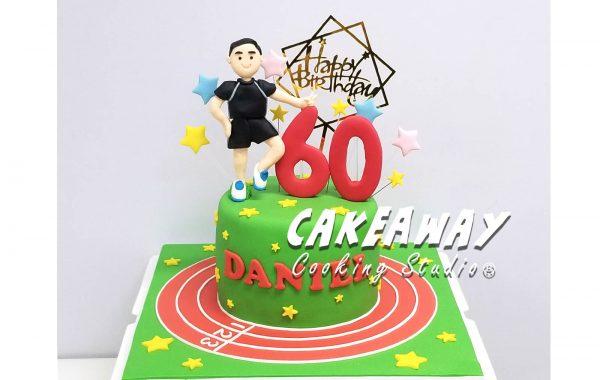 六十賀壽蛋糕(行山主題)