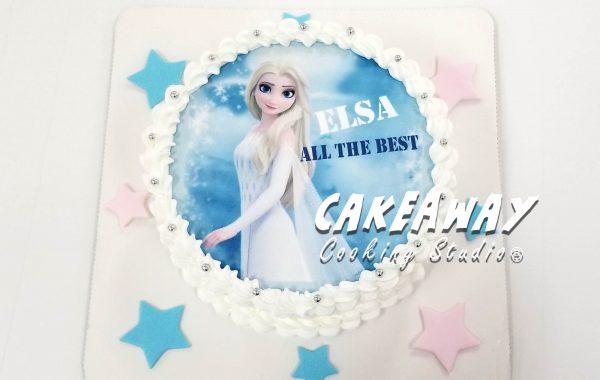 Elsa 蛋糕(食用打印)