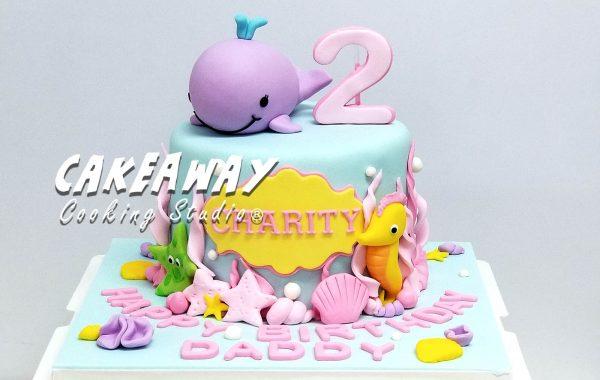 小海豚主題蛋糕