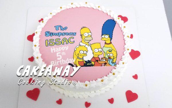 The Simpsons 蛋糕 (食用打印)