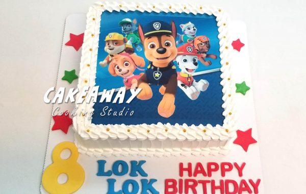 Paw Patrol 蛋糕(食用打印)