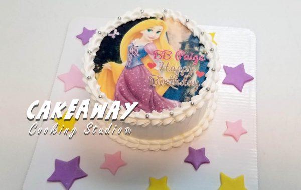 長髮公主Rapunzel蛋糕(食用打印)