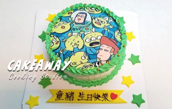 Toy Story 三眼仔蛋糕(食用打印)
