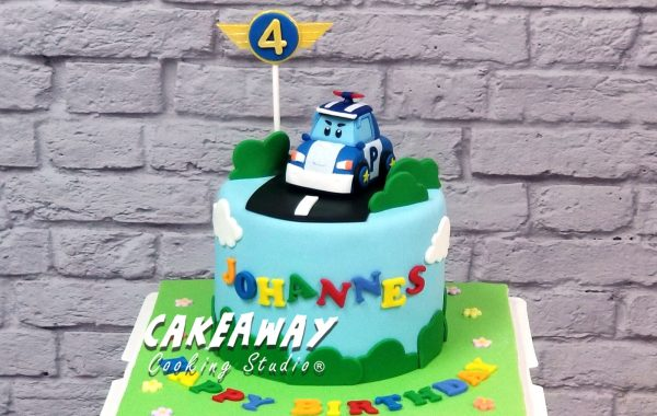 Robocar Poli 蛋糕